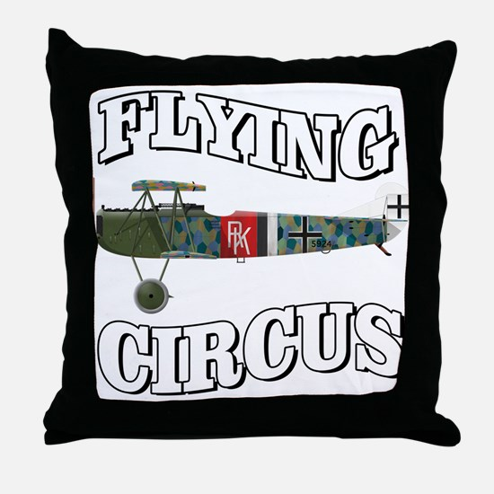 Flying Circus Fokker D7 Throw Pillow