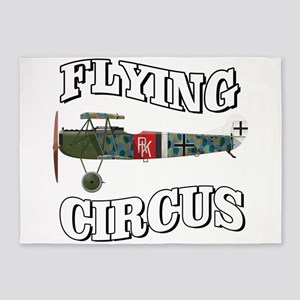 Flying Circus Fokker D7 5'x7'Area Rug