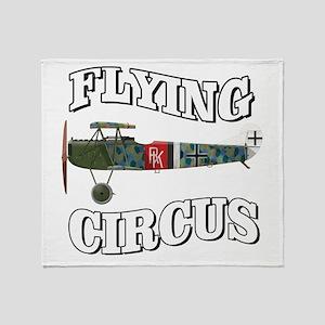 Flying Circus Fokker D7 Throw Blanket