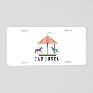 Carousel Aluminum License Plate