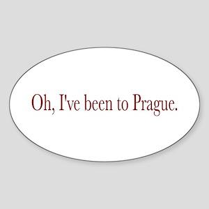 I've Been to Prague Oval Sticker