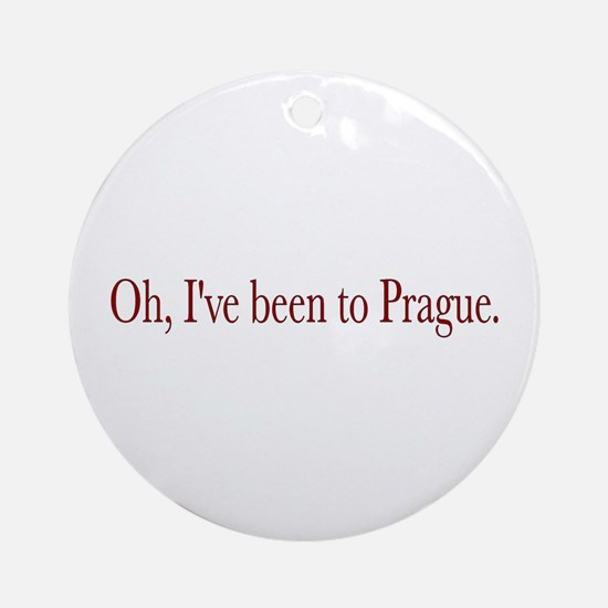 I've Been to Prague Ornament (Round)