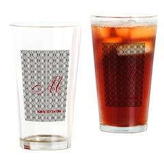 Vintage Style Monogram Drinking Glass