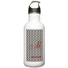 Vintage Style Monogram Stainless Water Bottle 1.0L