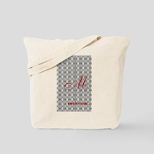 Vintage Style Monogram Tote Bag
