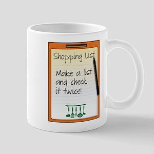 Shopping List make a list and check it twice! Mugs