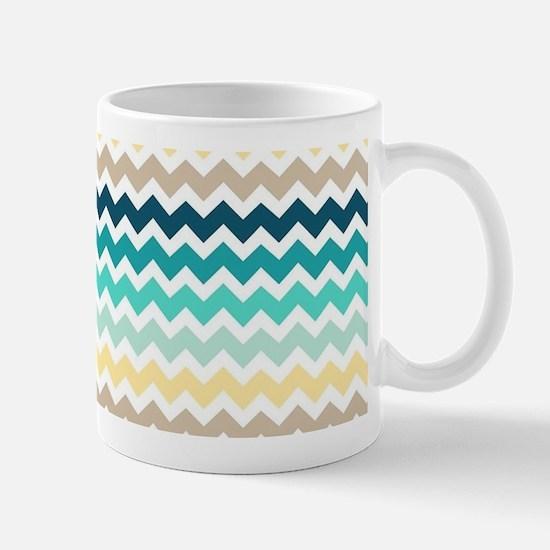Unique Aqua chevron Mug