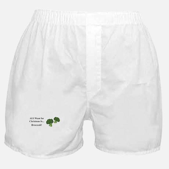 Christmas Broccoli Boxer Shorts