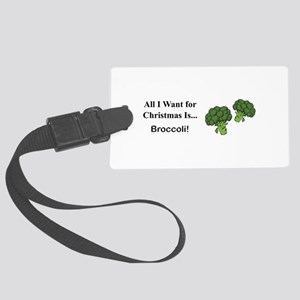 Christmas Broccoli Luggage Tag