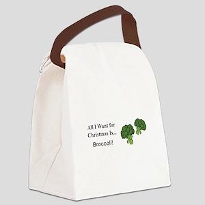 Christmas Broccoli Canvas Lunch Bag