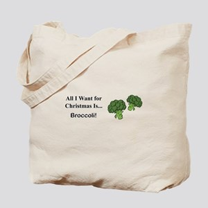 Christmas Broccoli Tote Bag