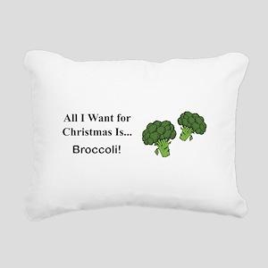 Christmas Broccoli Rectangular Canvas Pillow