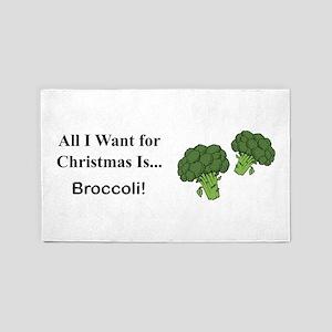Christmas Broccoli 3'x5' Area Rug