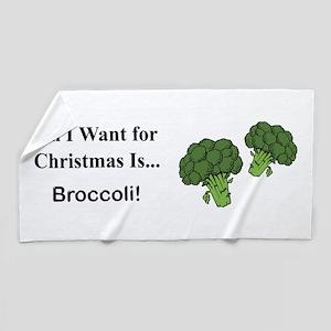 Christmas Broccoli Beach Towel