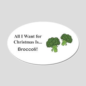 Christmas Broccoli Wall Decal