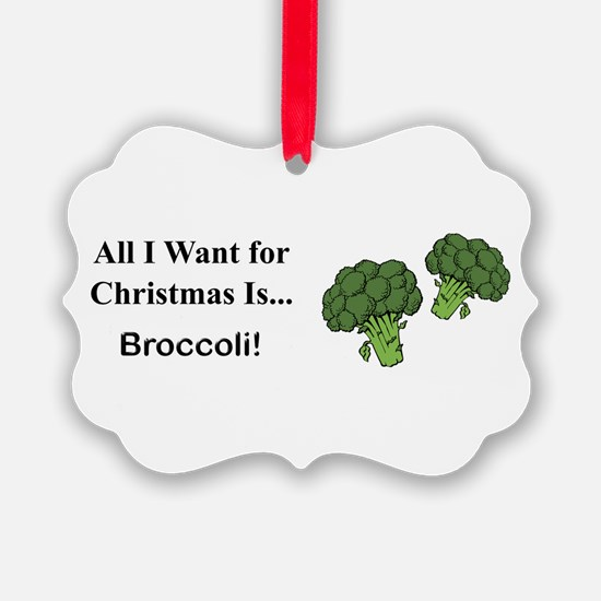 Christmas Broccoli Ornament