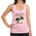 Christmas Broccoli Racerback Tank Top