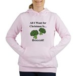 Christmas Broccoli Women's Hooded Sweatshirt