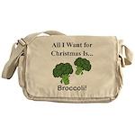 Christmas Broccoli Messenger Bag