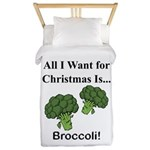 Christmas Broccoli Twin Duvet