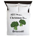 Christmas Broccoli Queen Duvet