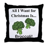 Christmas Broccoli Throw Pillow