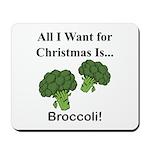 Christmas Broccoli Mousepad