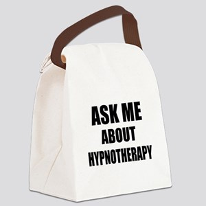 Ask me about Hypnotherapy Canvas Lunch Bag