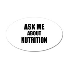 Ask me about Nutrition Wall Sticker
