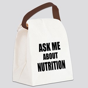 Ask me about Nutrition Canvas Lunch Bag