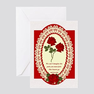 Sympathy With Red Rose Card Greeting Cards