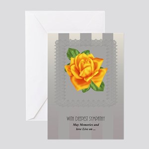 Sympathy With Yellow Rose Card Greeting Cards