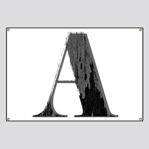 Grungy artistic letter A in black and grey tone Ba