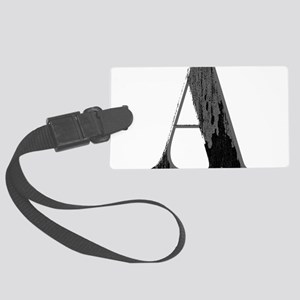 Grungy artistic letter A in black and grey tone Lu