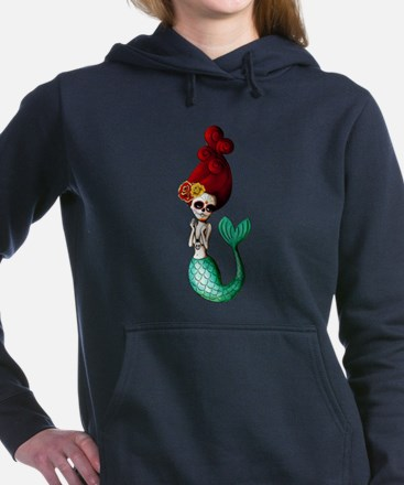 El Dia de Los Muertos Mermaid Women's Hooded Sweat
