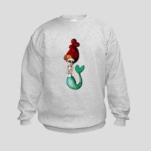 El Dia de Los Muertos Mermaid Sweatshirt