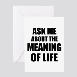 Spiritual meaning greeting cards cafepress ask me about the meaning of life greeting cards m4hsunfo