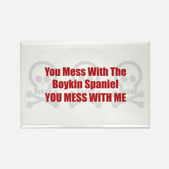 Mess With Boykin Rectangle Magnet (100 pack)