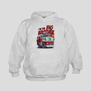Big Brother Fire Truck Kids Hoodie
