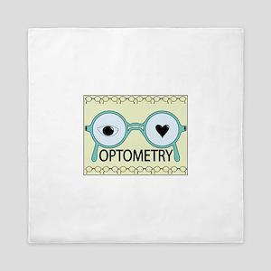I Love Optometry Queen Duvet