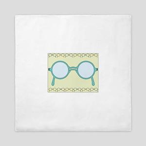 Framed Glasses Queen Duvet