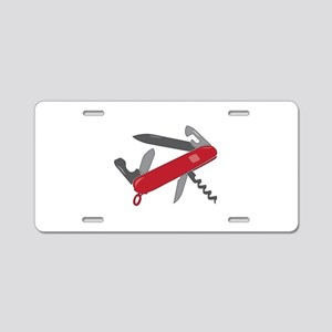 Swiss Army Knife Aluminum License Plate