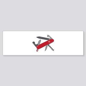 Swiss Army Knife Bumper Sticker