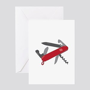 Swiss Army Knife Greeting Cards