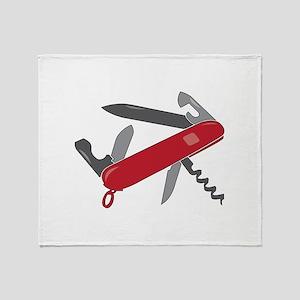 Swiss Army Knife Throw Blanket