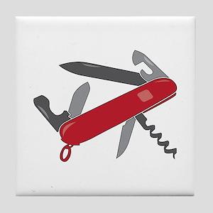 Swiss Army Knife Tile Coaster