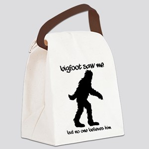 Bigfoot I Believe Canvas Lunch Bag