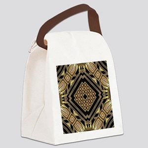 Art Deco Black Gold 1 Canvas Lunch Bag