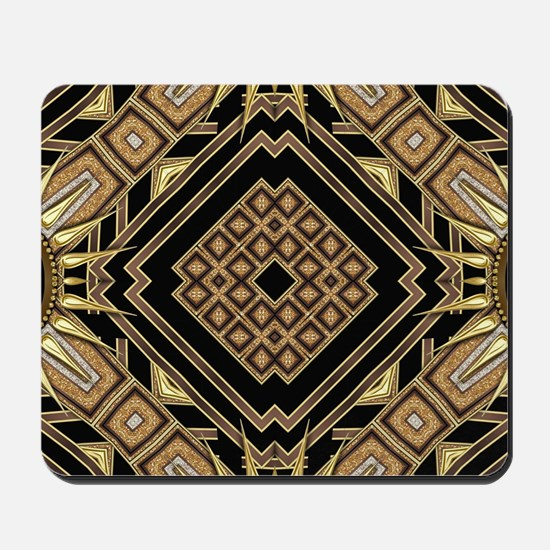 Art Deco Black Gold 1 Mousepad