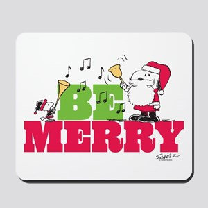 Snoopy: Be Merry Mousepad